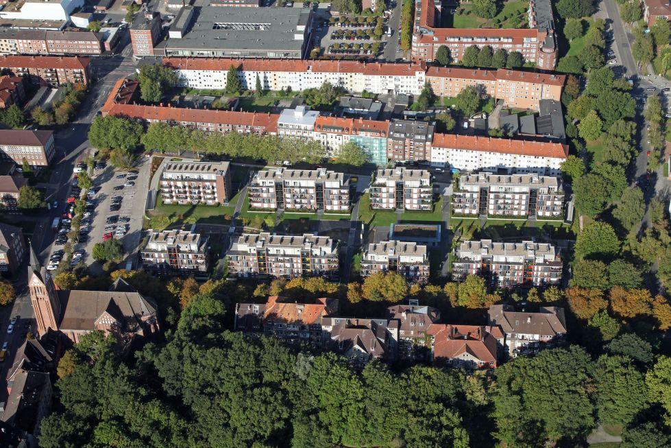 Parkgarten aus der Luft